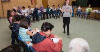 Na actividade participaron alumnado do CPI e persoas usuarias do Centro de Día