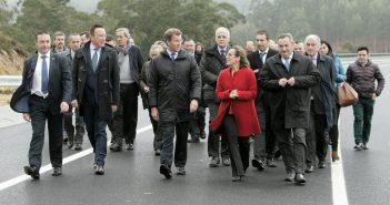 O presidente da Xunta e a titular de Infraestruturas inauguraron esta mañá o tramo Celeiro-San Cibrao (Foto: Xunta de Galicia)