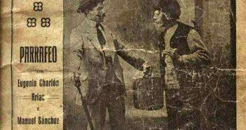 """Portada do libreto da obra teatral """"Mal de moitos"""", escrita por Eugenio Charlón e Manuel Sánchez Hermida e ambientada en Ferreira"""