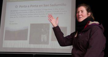A técnica de ADEGA María Lafuente expuxo os resultados obtidos na nova zona de recollida Porta por porta