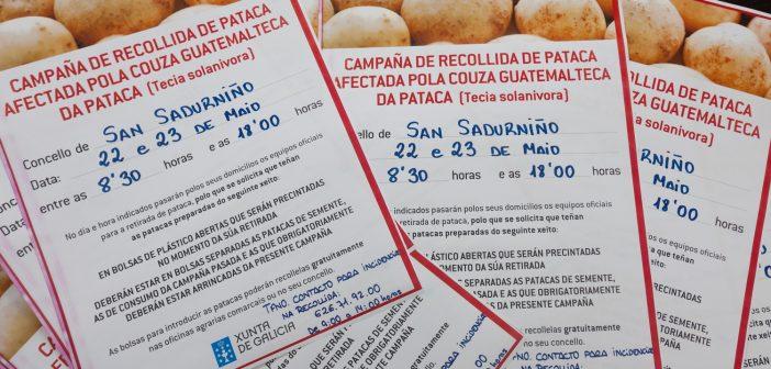 Para informar das datas de retirada da pataca distribuiranse cartaces por bares e locais públicos