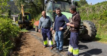 O APROL Rural ocupouse da limpeza de cunetas en San Sadurniño e Moeche