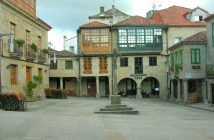 A Praza da Leña, un dos lugares máis emblemáticos de Pontevedra