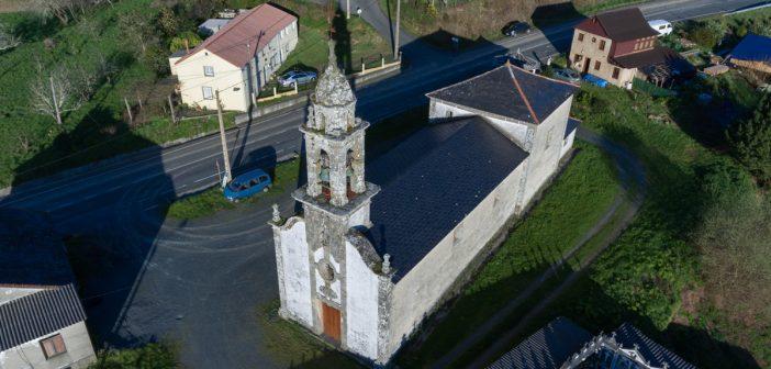 Igrexa de San Paio de Ferreira, onde se atopa encadeado San Vicente