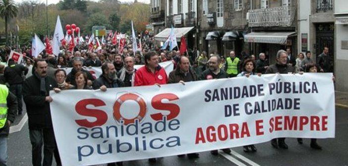 Imaxe dunha manifestación da plataforma. (Foto: SOS Sanidade pública)