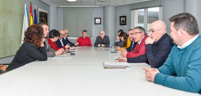 Imaxe da xuntanza mantida esta mañá na Coruña (Foto-Deputación da Coruña)