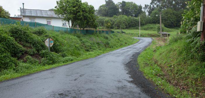 Unha das pistas que se van reparar será a que vai desde O Vilar ata Vilanova, en Lamas