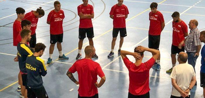 Imaxe do primeiro adestramento do Cidade de Narón FS (Foto: Cidade de Narón FS)
