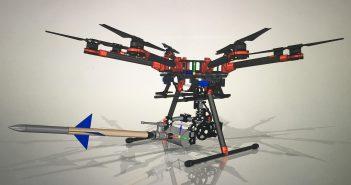 Na demostración do venres poderase ver en acción un dron lanzador de dardos