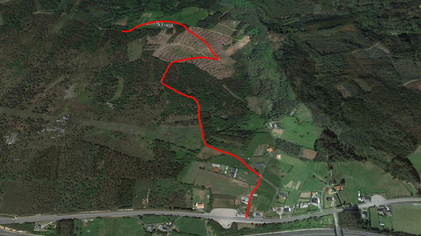 A pista da Fraga á Penalonga continuará o tramo xa aglomerado desde os Pontigos