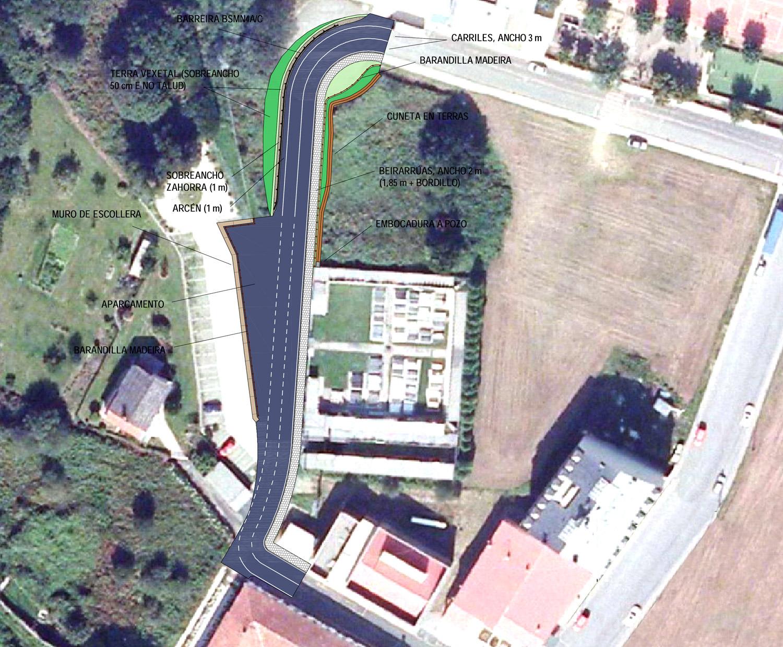 A nova rúa conecta o Convento do Rosario co pavillón municipal