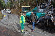 As obras de aglomerado entre O Pico e Cambolabrado, en Naraío, finalizarán entre hoxe e mañá.