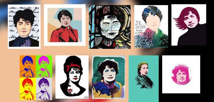 Internet ofrece unha chea de exemplos de reinterpretacións modernas da imaxe de Rosalía