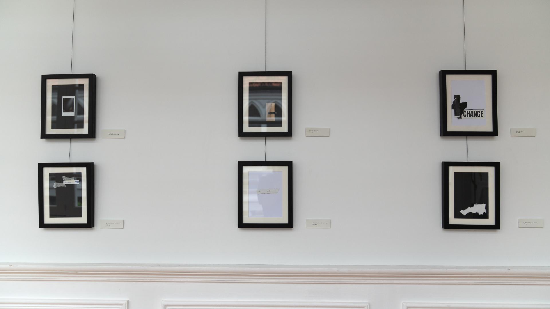 As obras expostas combinan nalgúns casos o collage coa fotografía