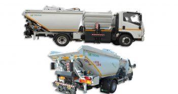O pequeno camión da recollida selectiva é un modelo similar ao desta imaxe