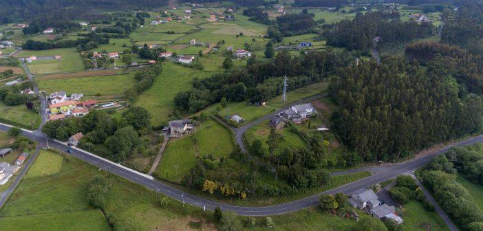 Vista aérea da zona pola que se estenderá o novo saneamento
